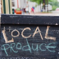 Locally Grown Food Sidewalk Sign